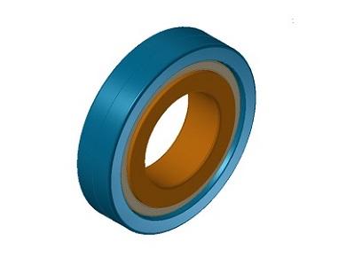 4点接触玉軸受CADモデル